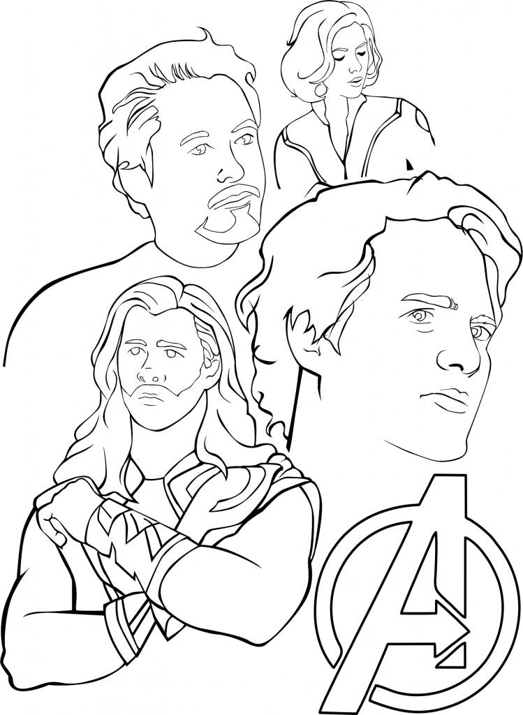 avengers coloring pages free printable - photo#24