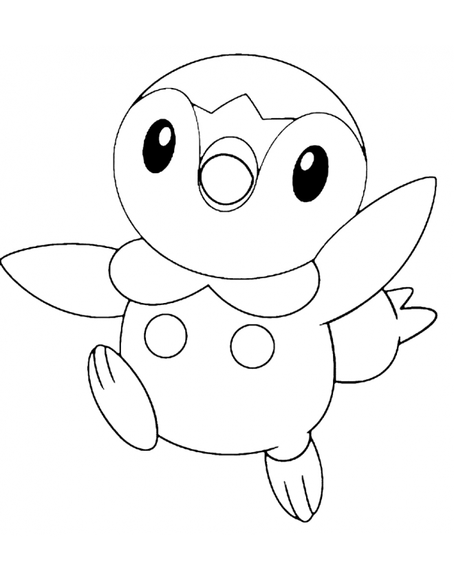 turtwig coloring pages - piplup coloring pages the image kid has it