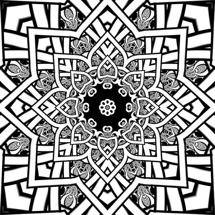 fractal coloring pages for kids - photo#7