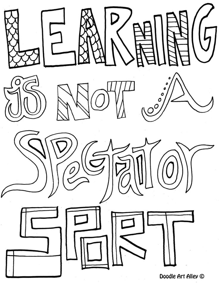 Learning is not a spectator sport | Coloring Pages for Older Kids | P…
