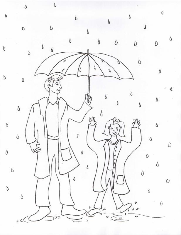Rainy Day Coloring Pages For Kids