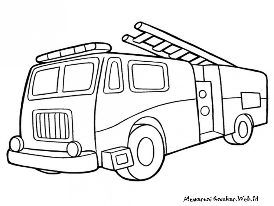 Fire Truck Coloring Pages Fire Truck Book Children Learn From