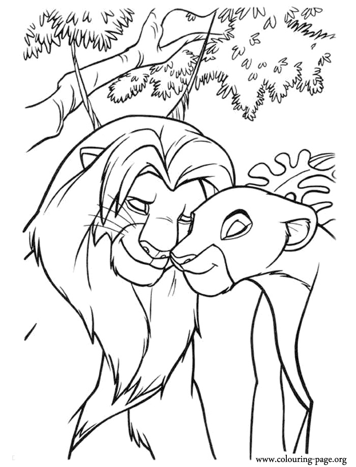 Simba And Nala Love Coloring Page Coloring Pages
