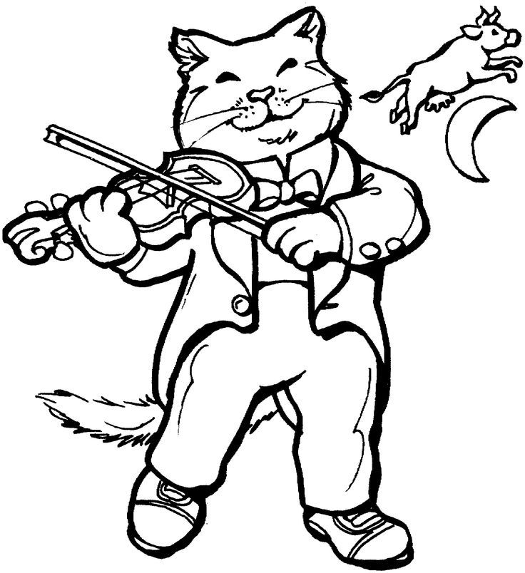 hey diddle diddle coloring pages - photo#18