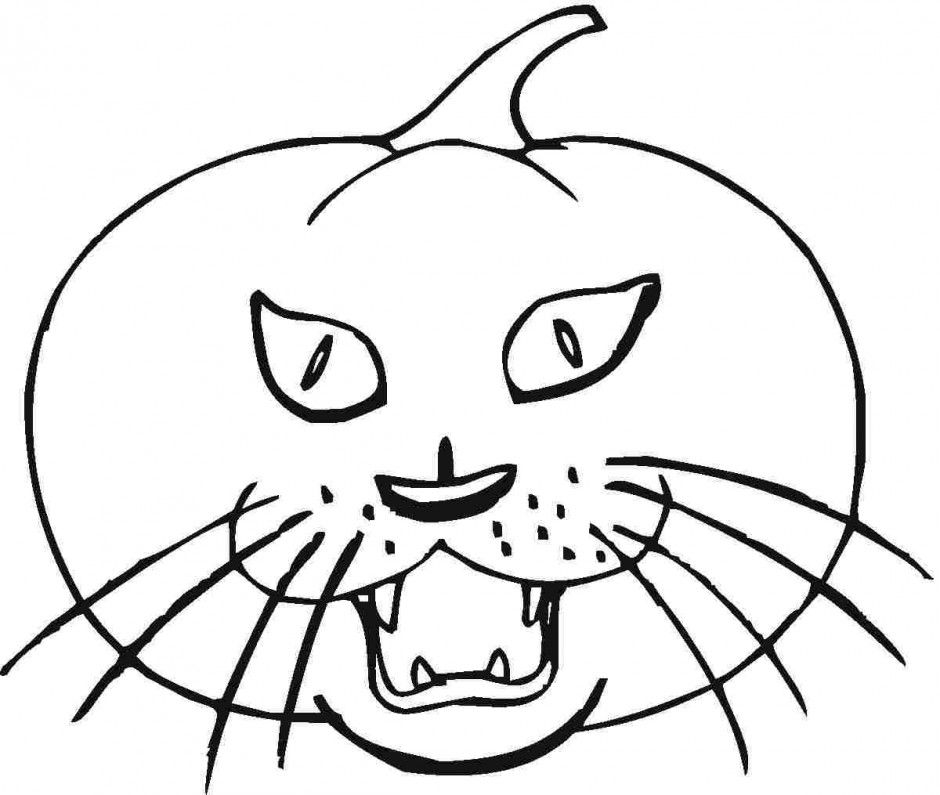 Pumpkin Halloween Coloring Pages For Kids Printable 213749