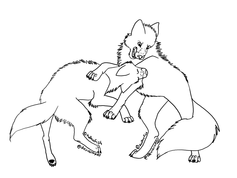 Howling Wolf Coloring Pages