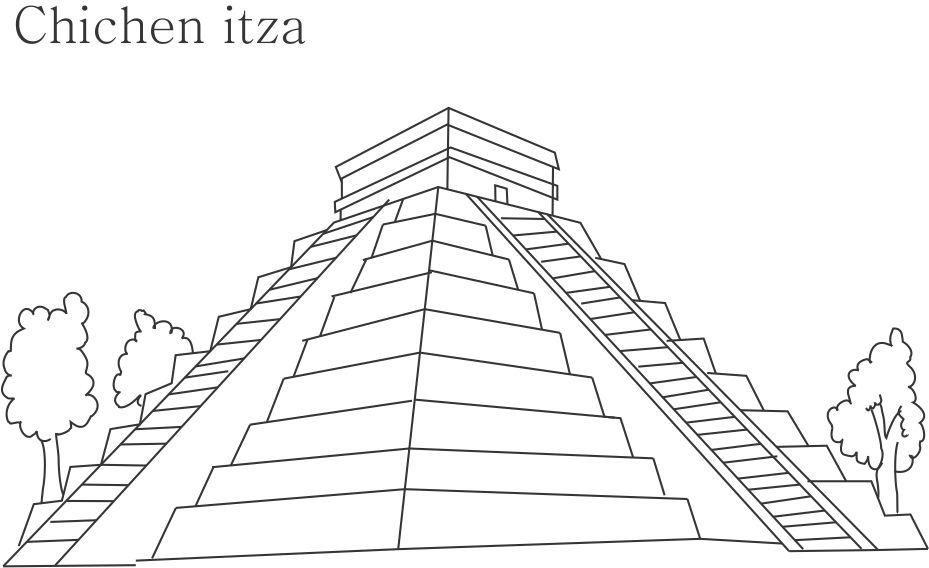 Pyramid Coloring Pages Az Coloring Pages Pyramid Coloring Pages