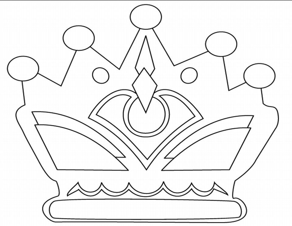 coloring pages with crowns - photo#14