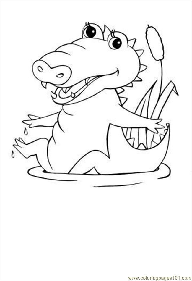 Crocodile Coloring Pages To Print Coloring Home