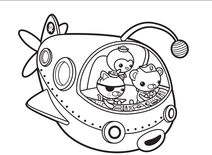 Octonauts Coloring Pages To Print Coloring Home Octonaut Colouring Pages