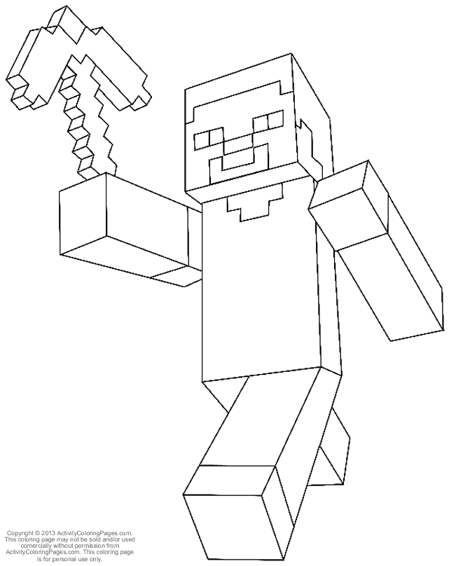minecraft?s Colouring Pages