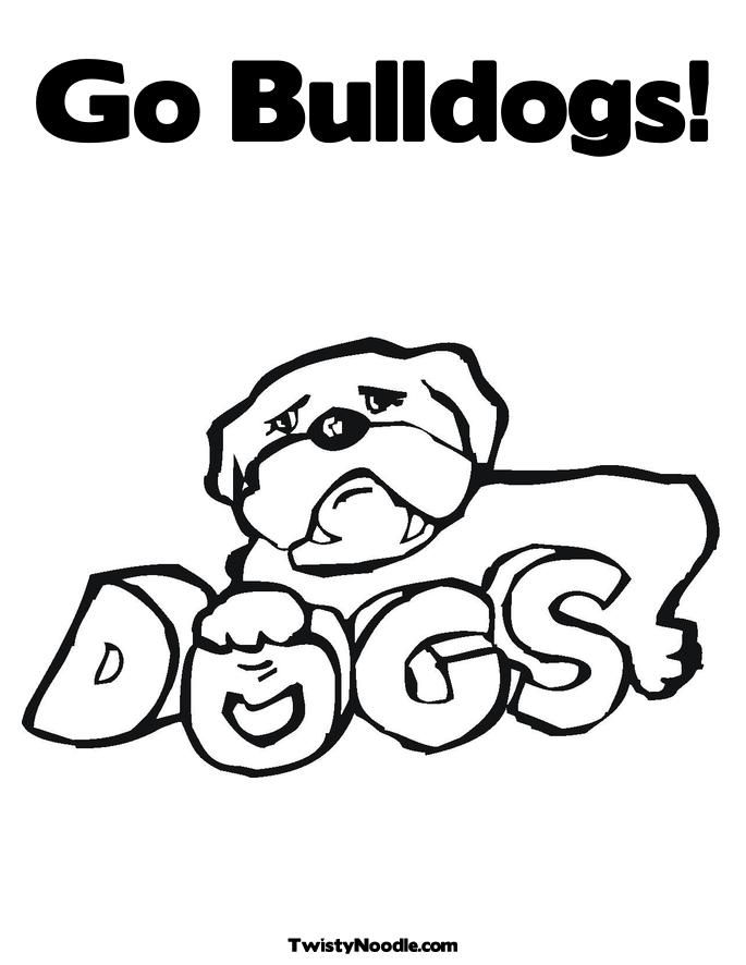 Bulldog coloring sheets coloring home for Bulldogs coloring pages
