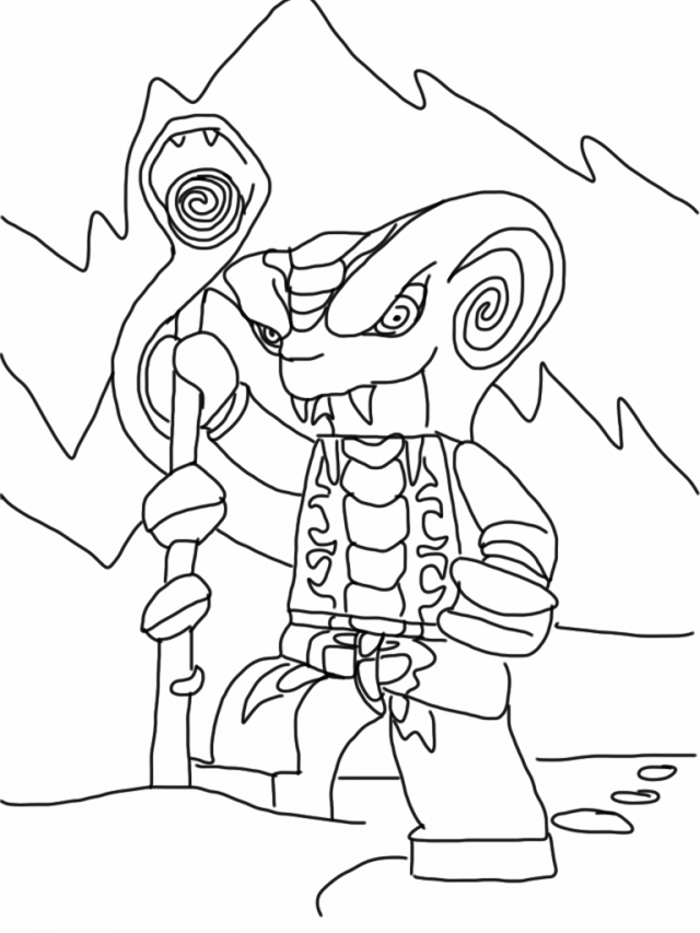 Ninjago Coloring Pages To Print Snake For Kids