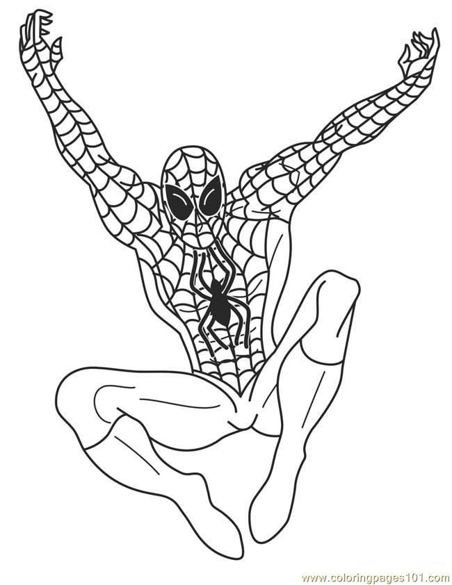 super heroes coloring pages - photo#9