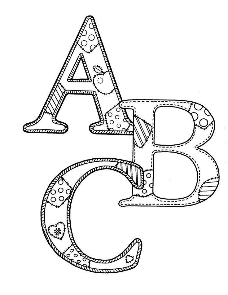 Раскраска английской азбуки своими руками