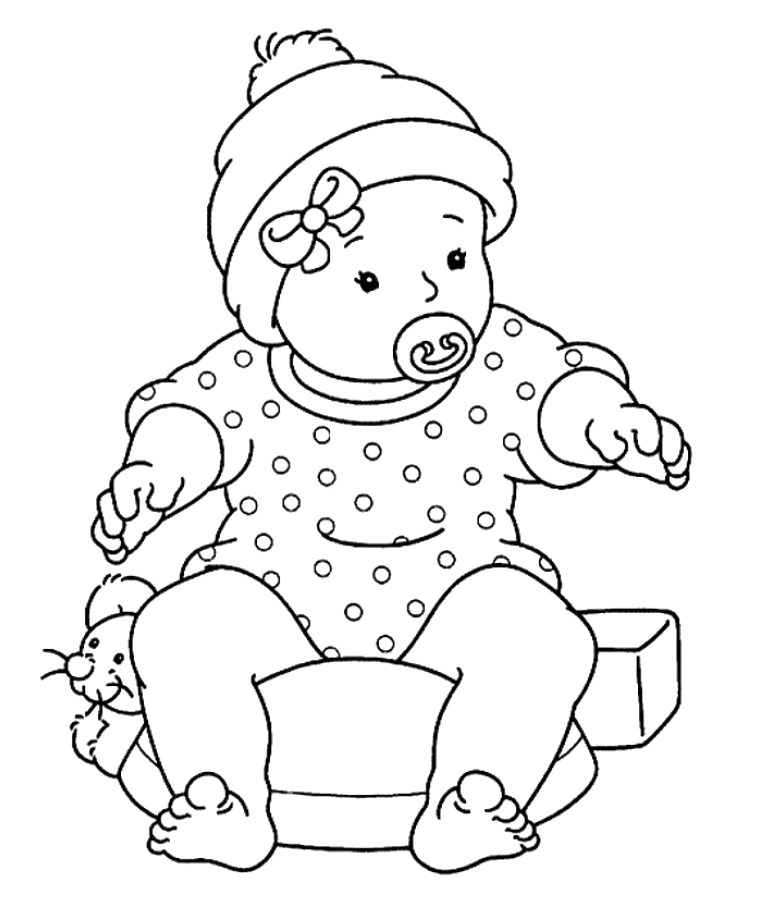 Baby Color Pages Az Coloring Pages Printable Baby Coloring Pages