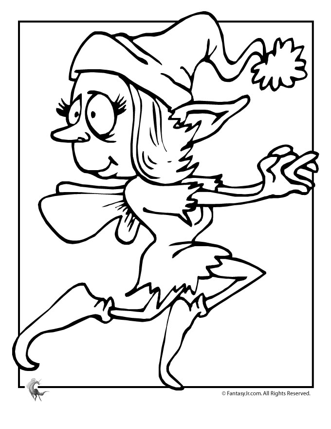 coloring pages girl elf - photo#24
