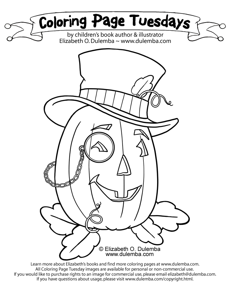 dulemba: Coloring Page Tuesday - Steam Pumpkin!