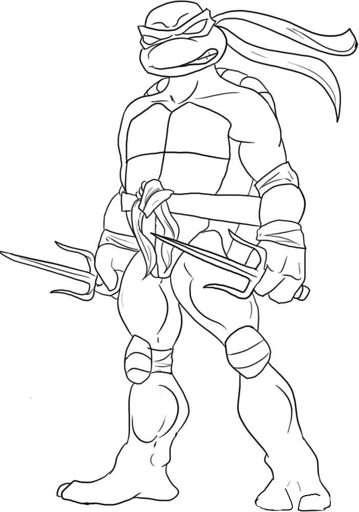 Ninja Turtles Coloring Page – 701×1000 Coloring picture animal and