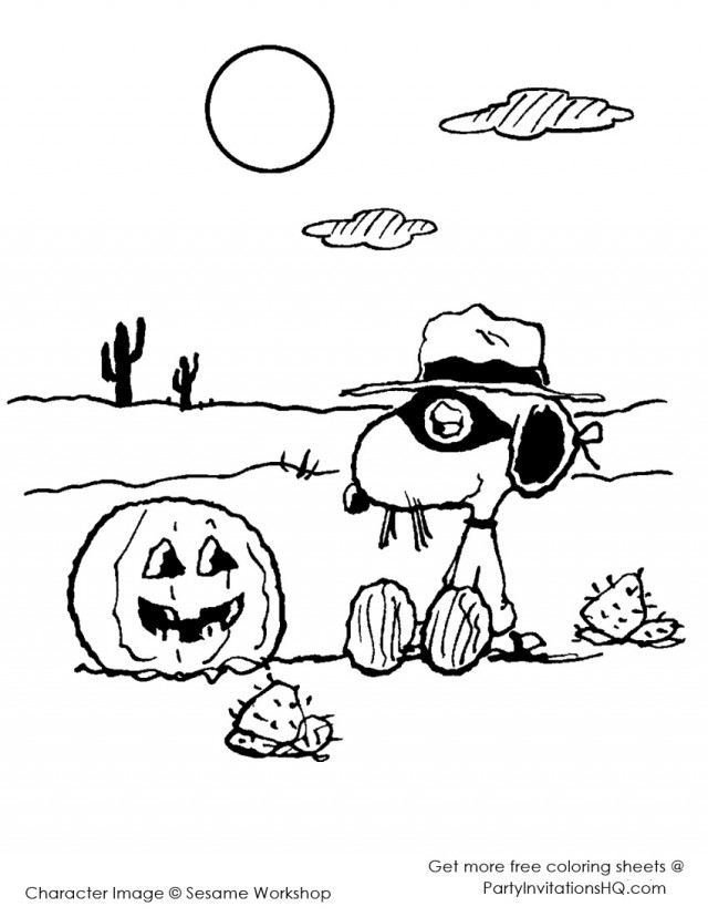 Coloring Pages Snoopy Halloween Coloring Pages For Kids 152756