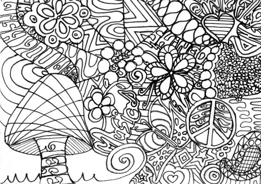 stoner trippy weed coloring pages - photo#23