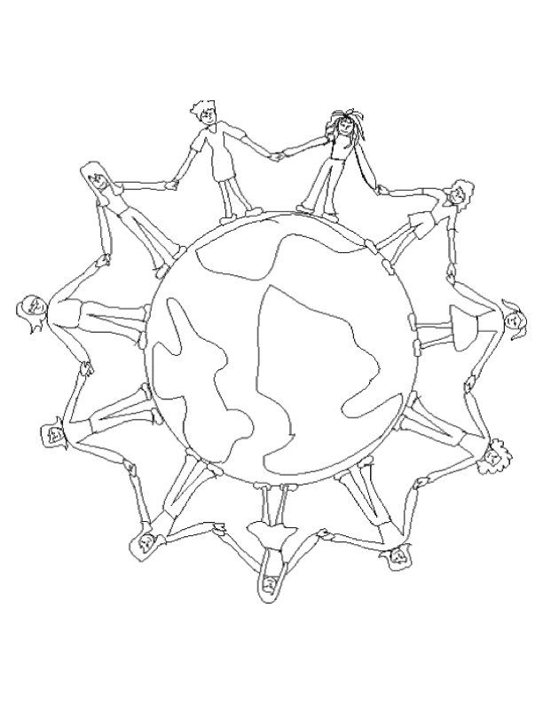 Coloring Page Of The World Miakenasnet