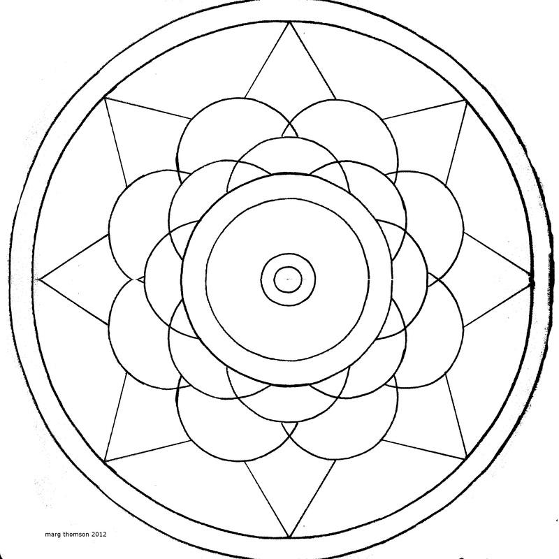 Line Art Mandala : Easy mandalas az coloring pages