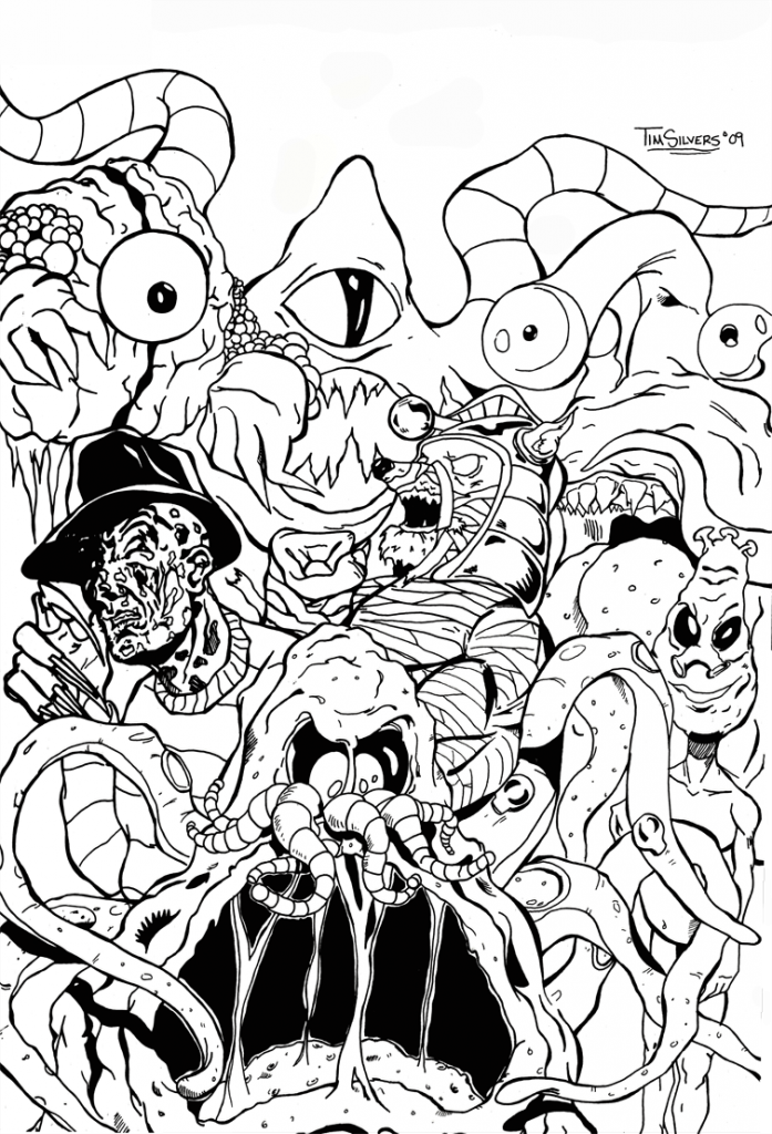 Gremlins Coloring Pages Coloring Home