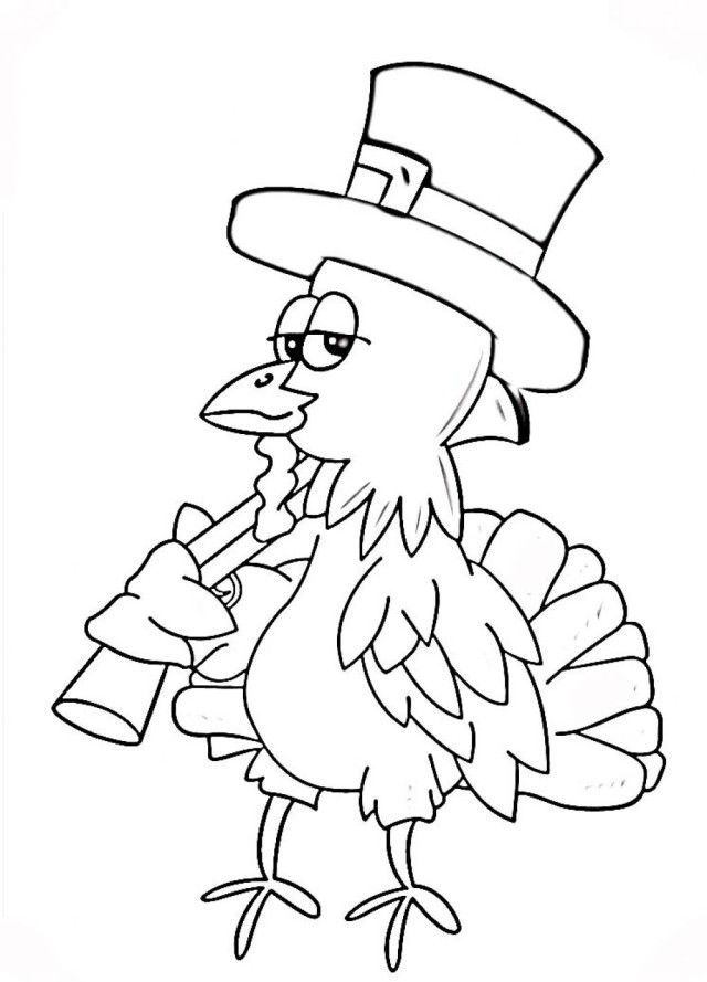 preschool printable thanksgiving coloring pages - photo#41