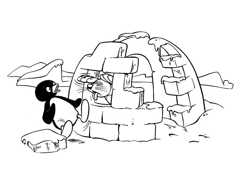 Coloring pages pingu - picture 7