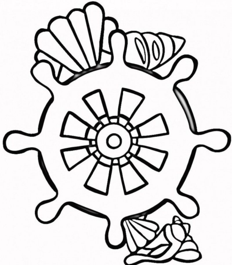 Seashell coloring pages printable coloring home for Seashell coloring pages printable