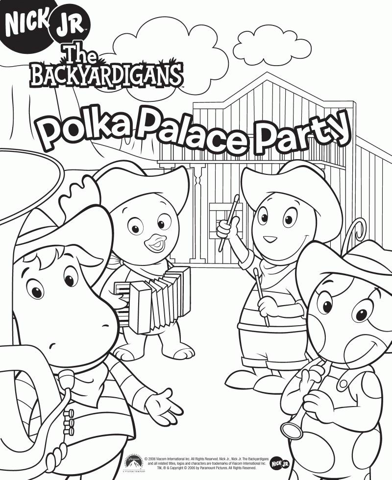 Pablo Backyardigans Coloring Pages 2014 Sticky Pictures Coloring