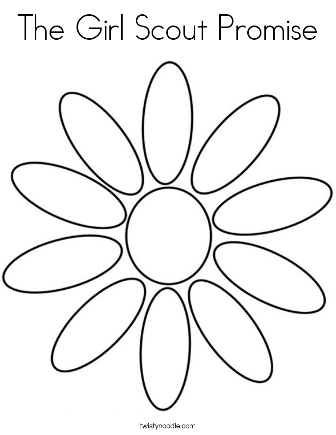 Girl Scout Promise Coloring Page Coloring Pages Scout Coloring Pages With Promise Printable