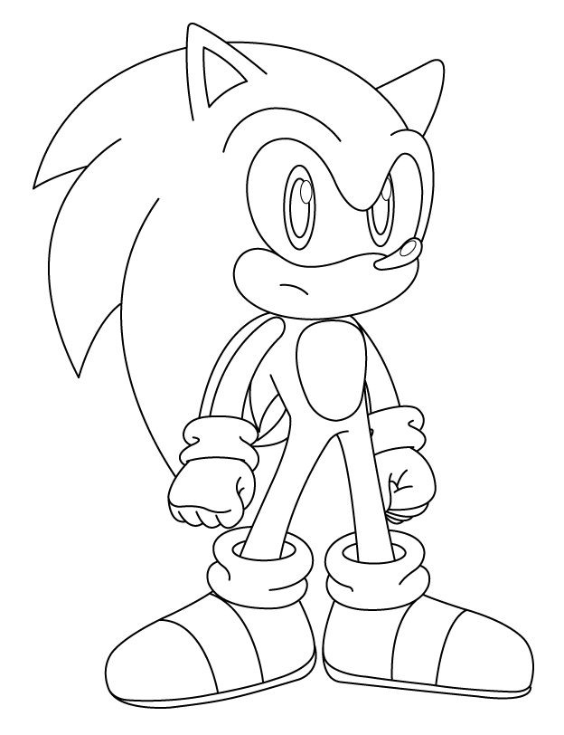gold sonic coloring pages - photo#48