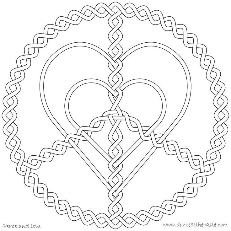 Peace and love coloring page | My Coloring Pages