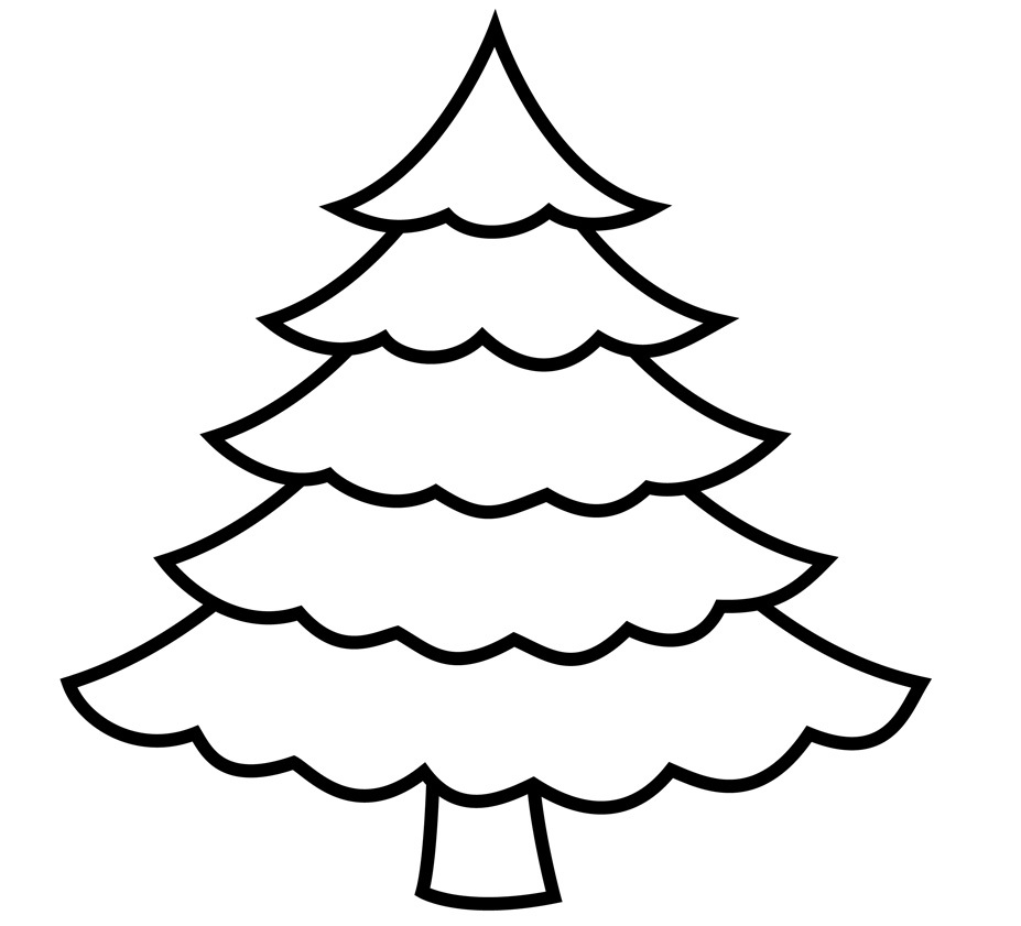 Christmas Tree Drawing Pages : Christmas tree printable inspiration violasgallery az