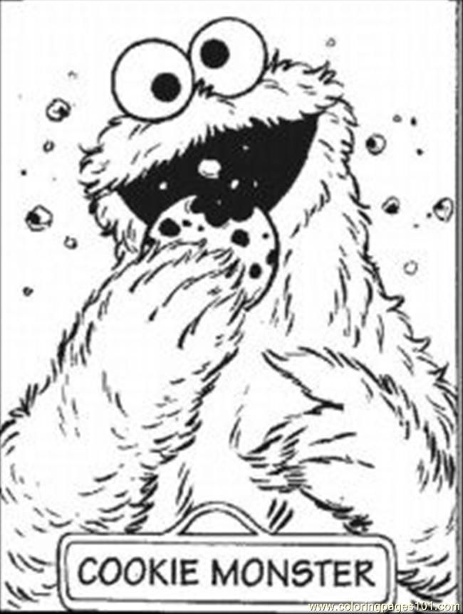 Cookie Monster Color Pages Coloring Home