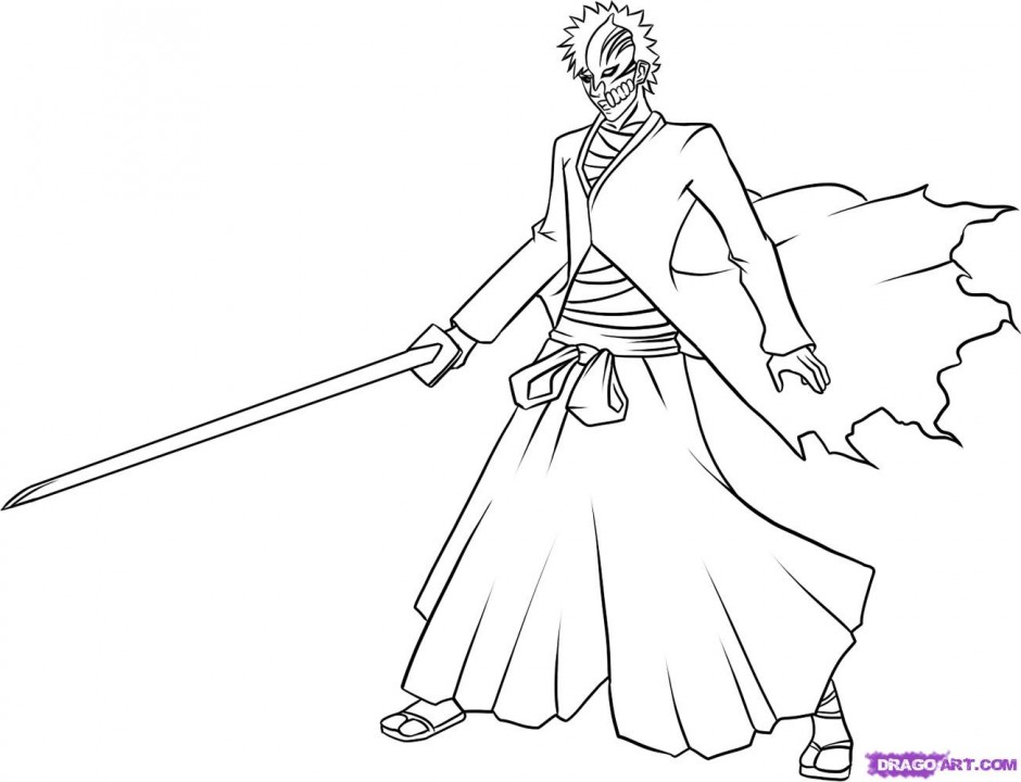 bleach coloring book pages - photo#8