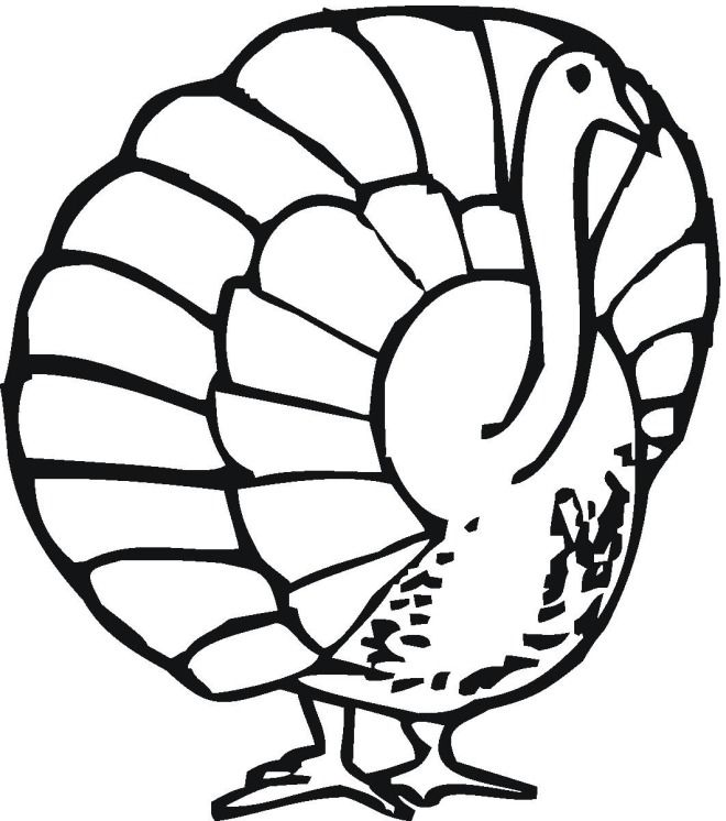 cooked turkey colouring pages page 2 - Turkey Color Pages 2
