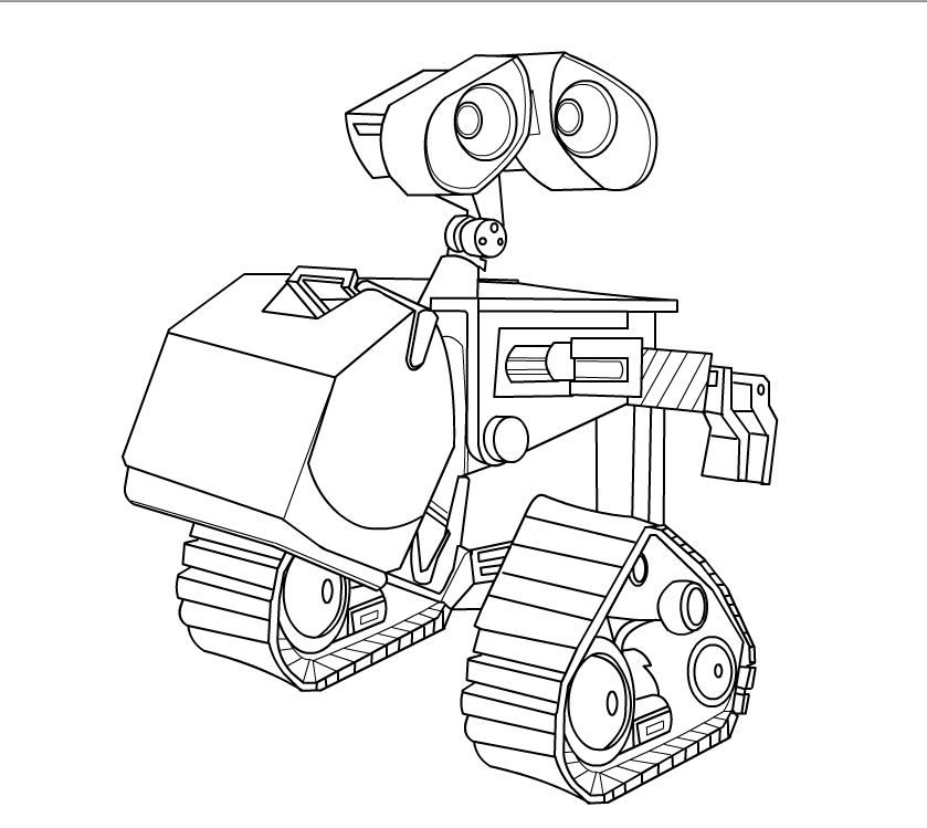 Oculus HomLa Wall E Colouring Pages - Coloring Home