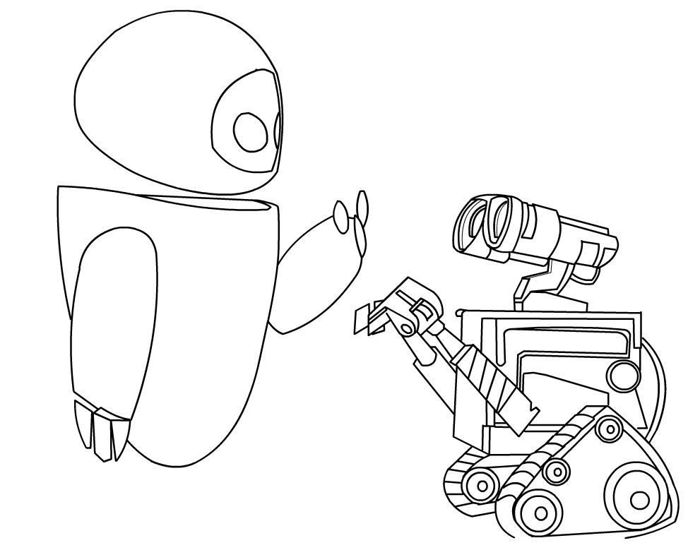 Wall-e And Eve Coloring Pages