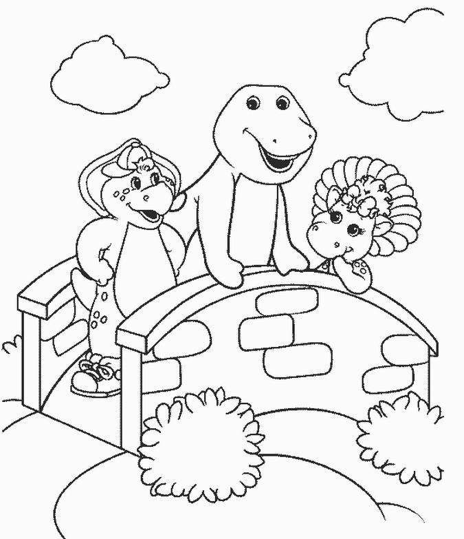 Barney Christmas Coloring Pages