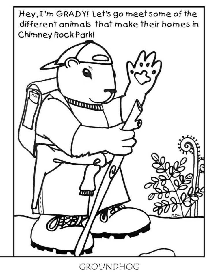 Chimney Rock Park Kids Corner Coloring Pages - Coloring Home