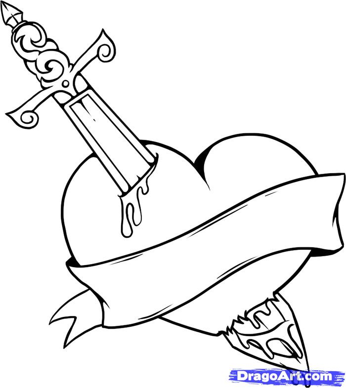 Coloring Pages Hearts And Roses - AZ Coloring Pages