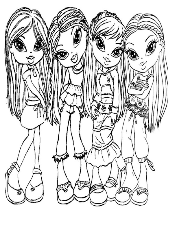 bratz characters coloring pages - photo#24
