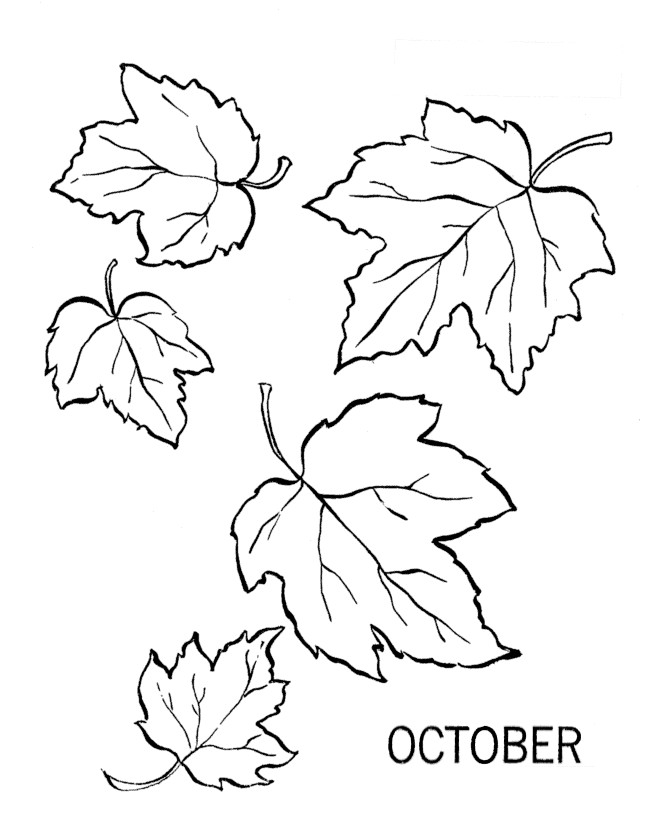 leaves to print and color az coloring pages
