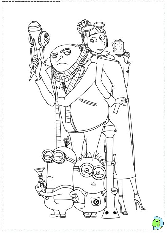 despicable me antonio coloring pages - photo#18