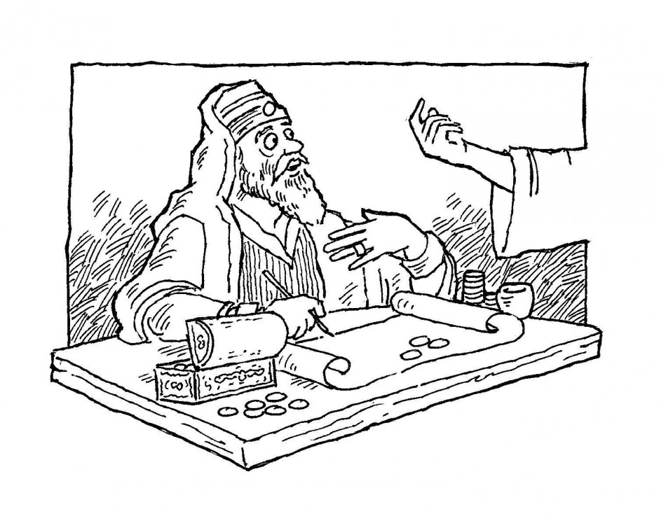 Zaccheus coloring pages az coloring pages for The pharisee and the tax collector coloring page