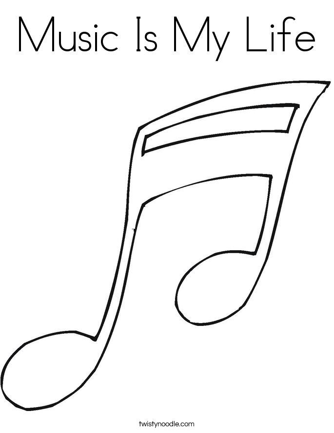 Music Is My Life Coloring Page | coloring pages