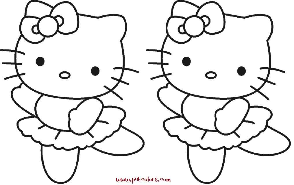 Online Hello Kitty Cat Ballerina Coloring Pages Homerhcoloringhome: Hello Kitty Cat Coloring Pages At Baymontmadison.com